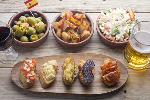 Tapas Typical food spain