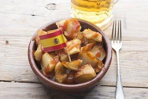 Patatas Bravas (typical food spanish