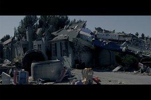Cinematic airplane crashed