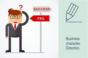 Business character. Direction