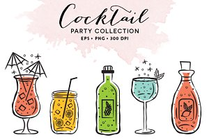 10 Cocktail Glasses EPS & PNG