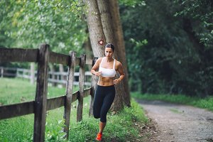 Woman fitness outdoors