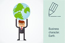 Businessman with earth
