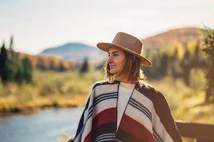 Portrait of tourist traveler