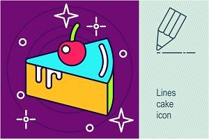 Lines cake icon