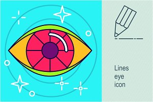 Lines eye icon