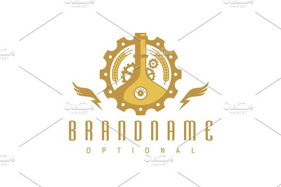 steampunk brewery logo logo templates creative market