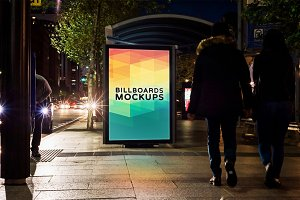 Billboard Mockup at Night #25