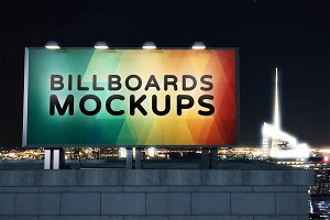 Billboard Mockup at Night #28