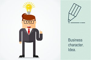 Successful businessman with idea