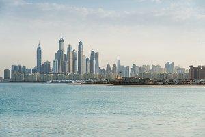 Dubai marina view from Palm island