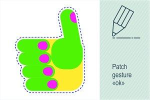 "Patch gesture ""ok"""