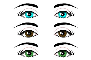 beautiful human eyes. Vector