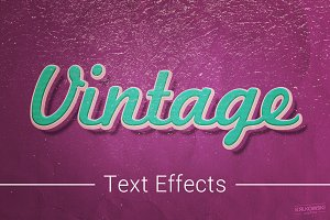 Vintage Old Text Effects Mockup