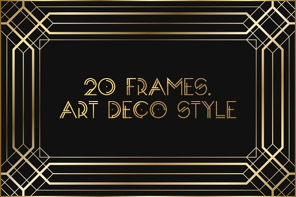 Art Deco Frames Graphic Objects Creative Market