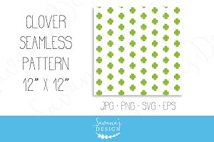 Four Leaf Clover Seamless Background