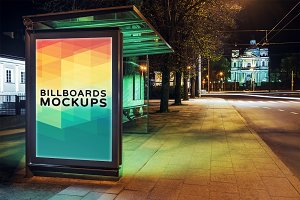Billboard Mockup at Night #29