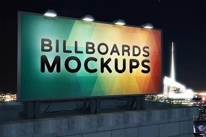 Billboard Mockup at Night #27