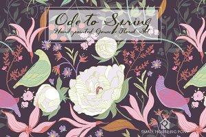 Ode to Spring- Gouache Floral Set