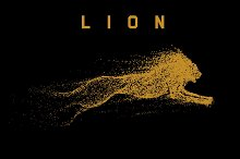 attack motion of lion