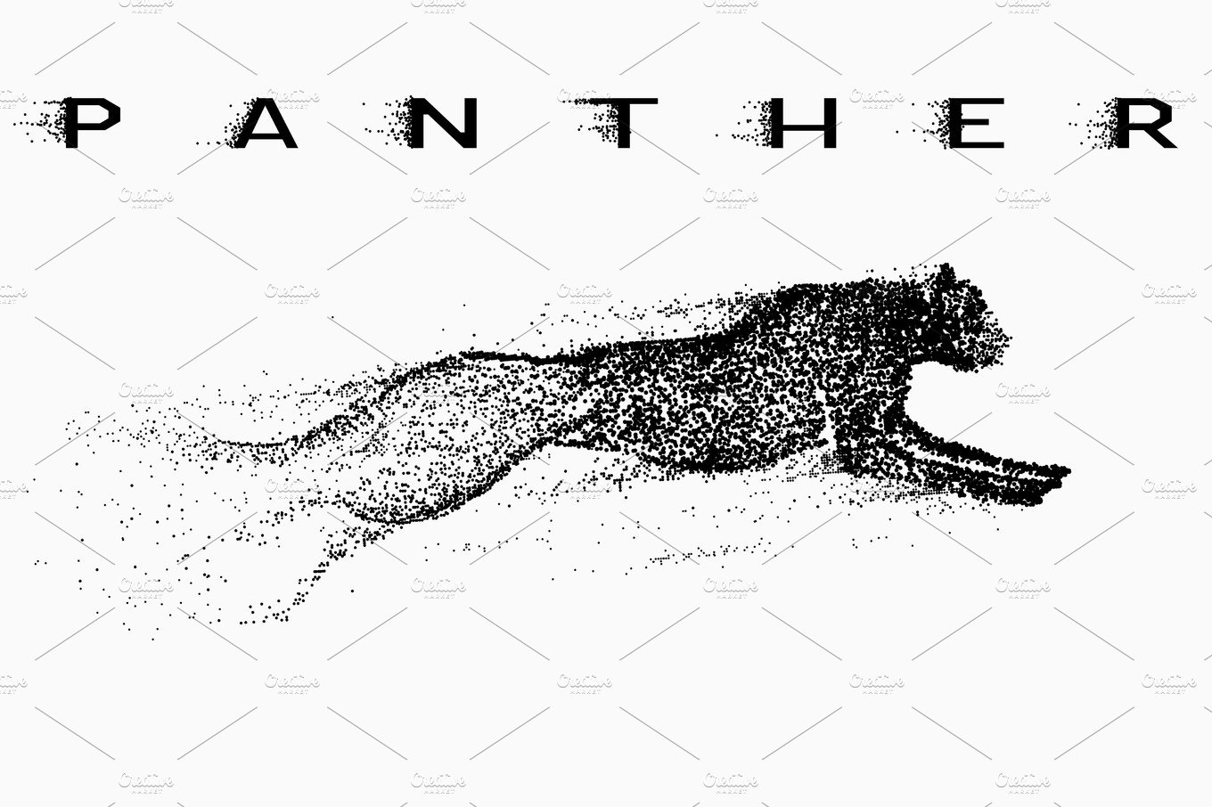 Attack motion of panther ~ Illustrations ~ Creative Market