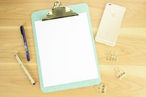 Clipboard Mock Up with iPhone