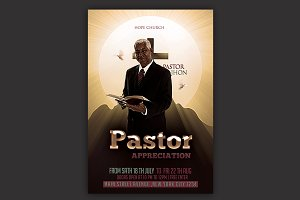 Pastor Appreciation Church Flyer