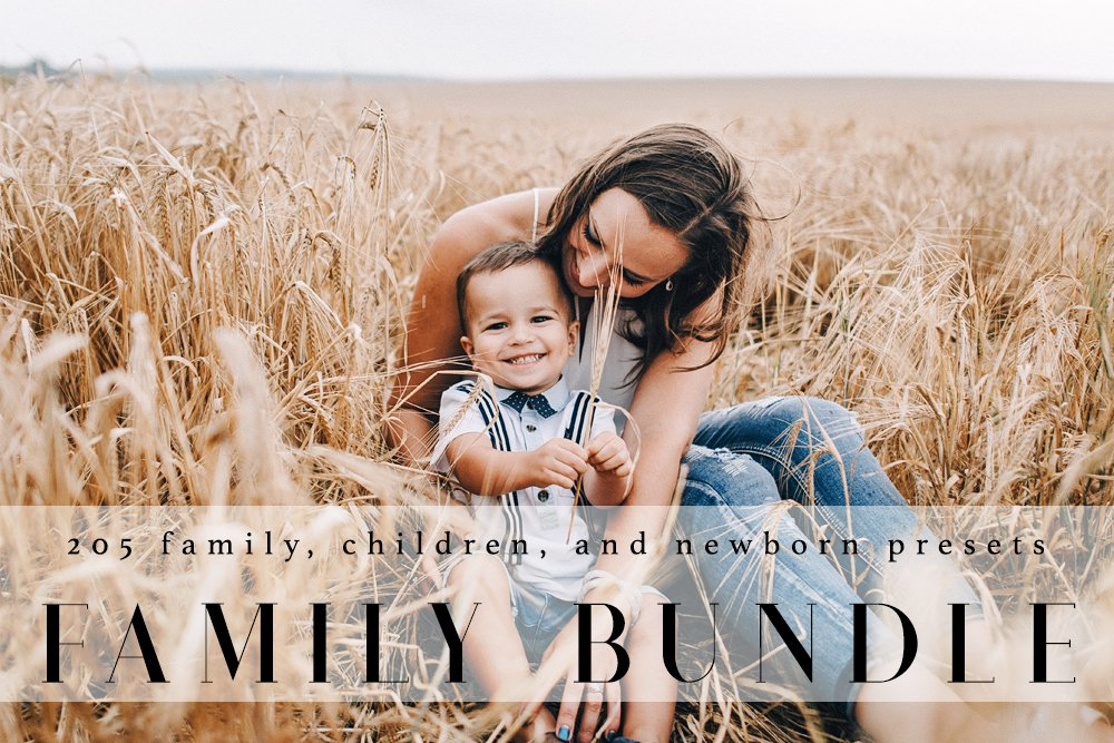 Family baby lr presets actions creative market