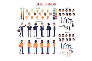 Create Character Set of Business and Casual Style