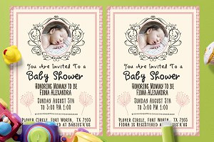 Simple Baby Shower Template Card