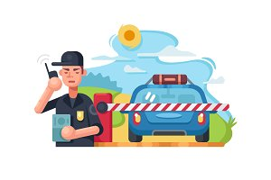 Traffic police checkpoint