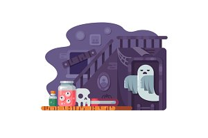 Haunted house flat