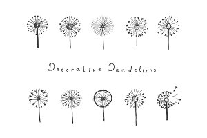 Decorative dandelions + patterns