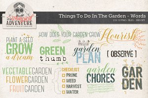 Garden themed Word Art