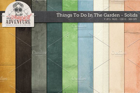 Garden themed cardstock