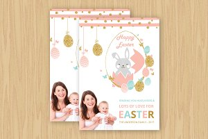 Happy Easter Greeting Card-V505