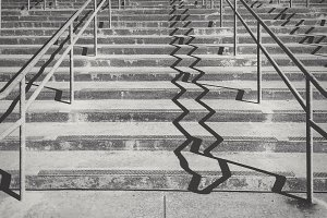 Concrete Steps with Shadow