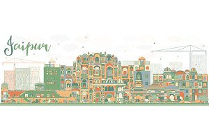 Abstract Jaipur Skyline