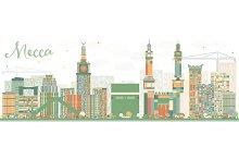 Abstract Mecca Skyline