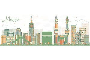 Abstract Mecca Skyline