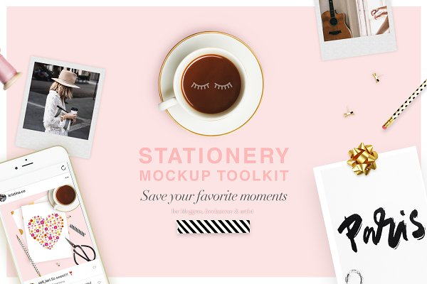 Stationery Templates: Kristina&Co - Creator Toolkit Mockup