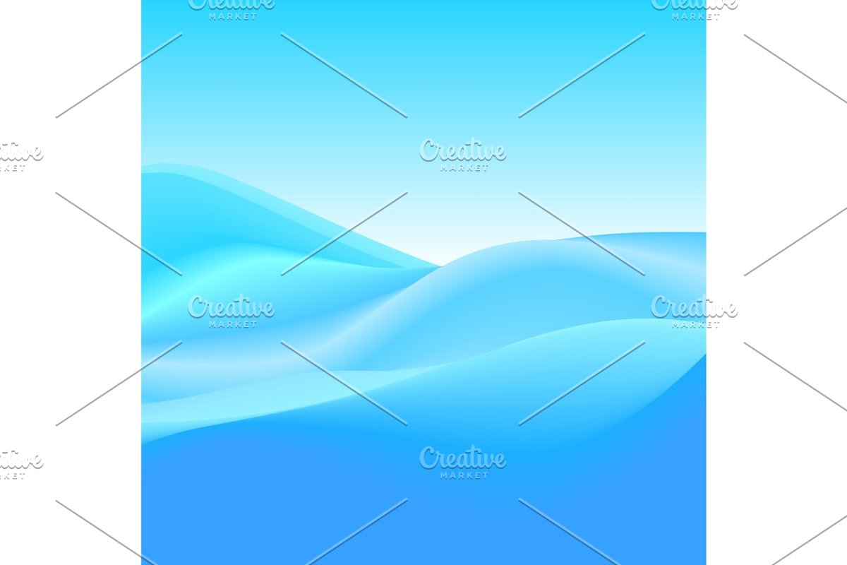 Abstract Background Of Blue Waves Vector Illustration