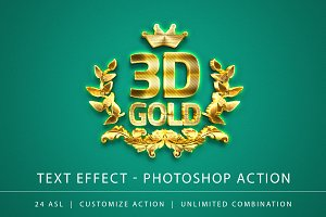 3D Gold Text Effect