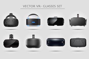 VR virtual reality glasses set