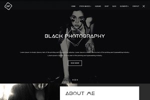 Black Image Photography Landing Page