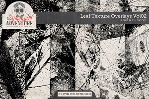 Leaf Texture Overlays Vol02