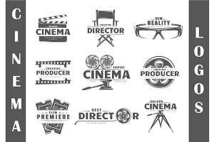 9 Cinema Logos Templates Vol.2