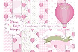 Pink Hot Air Balloons