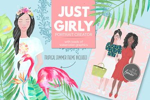Just Girly Custom Portrait Creator