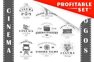 18 Cinema Logos Templates